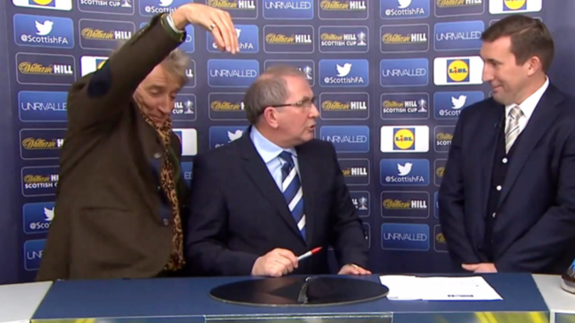 The Time Rod Stewart Was Accused Of Being Drunk During Scottish Cup Draw