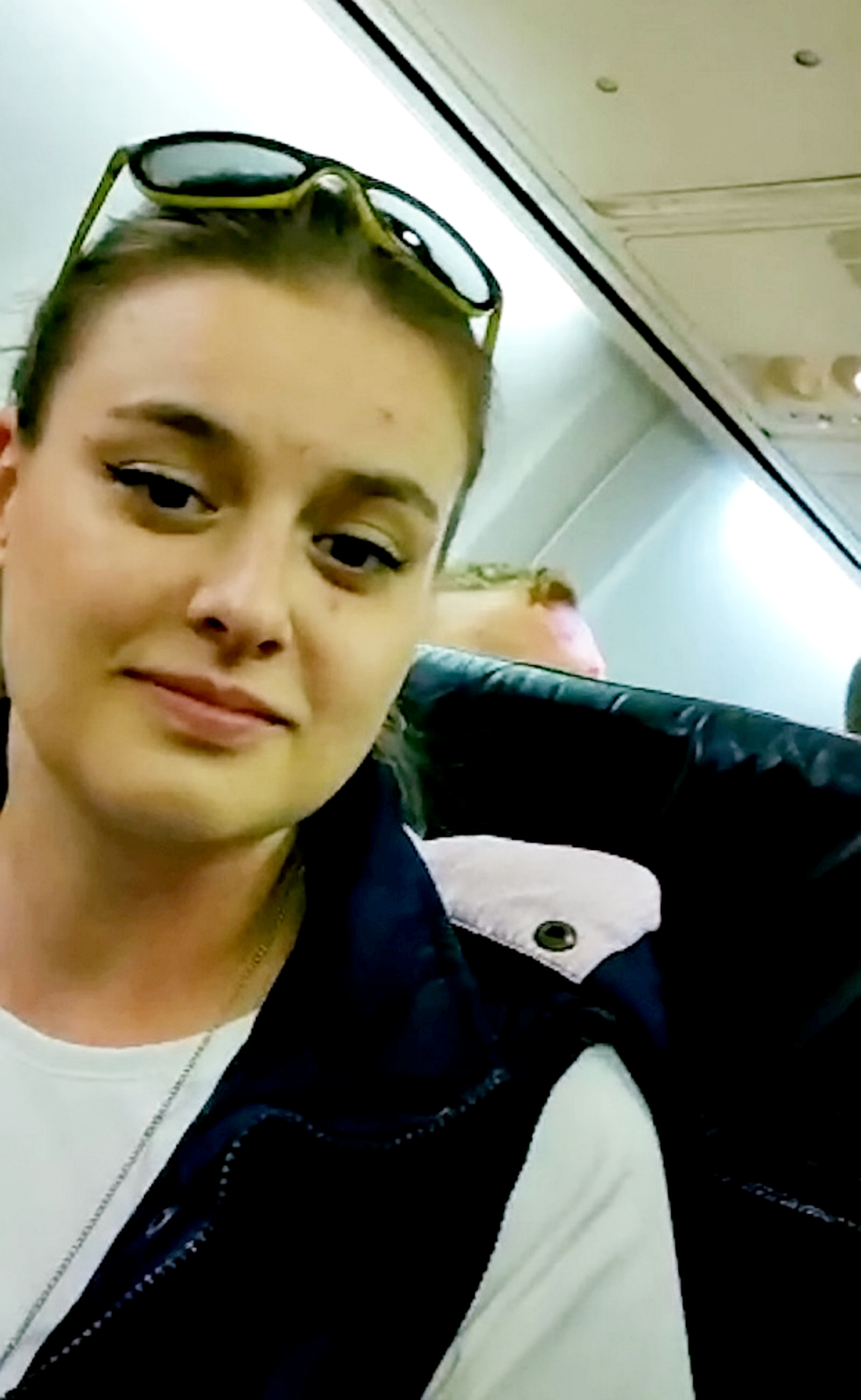 Aneta Zukow said the flight was 'hell'. Credit: SWNS
