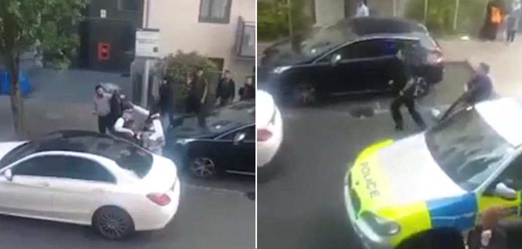 A Group Of Men Outnumber Police In Altercation After Their Car Is Pulled Over